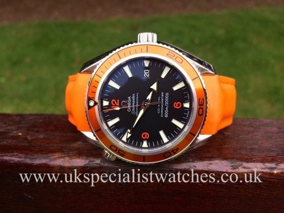 Omega Seamaster Planet Ocean Co-Axial 29095083 Orange Bezel