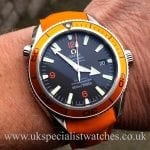 UK Specialist Watches Omega Seamaster Planet Ocean Co-Axial 29095083 Orange Bezel