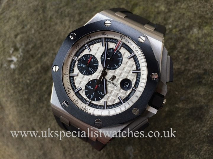 New model AP Royal Oak Offshore steel ceramic in stock at UK Specialist Watches