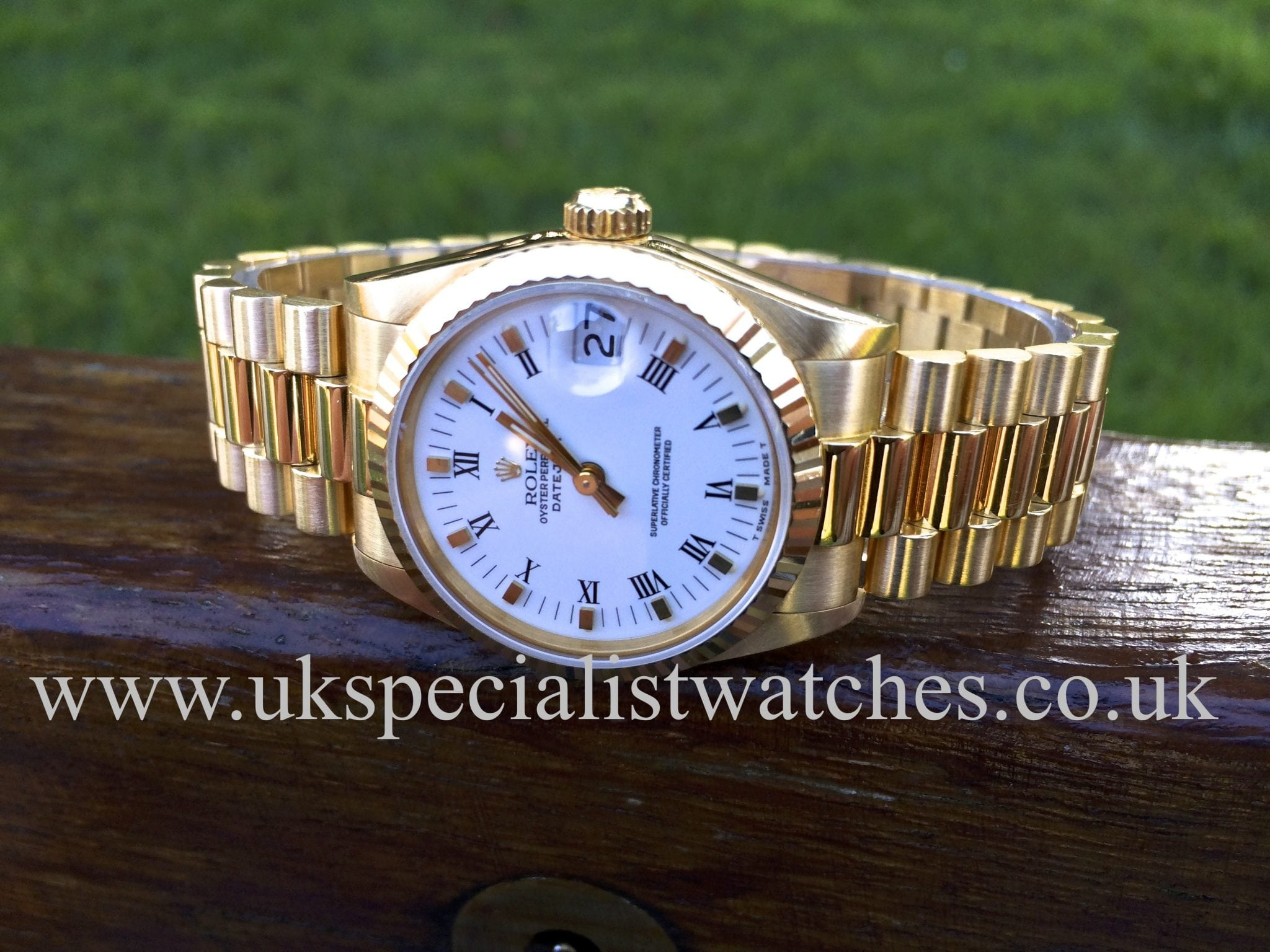 luxury box yellow watches dial day rolex w diamonds tns presidential date a president gold diamond year jewelry