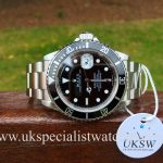 UK Specialist Watches have a rare Final Edition Rolex Submariner 16610T - 2008