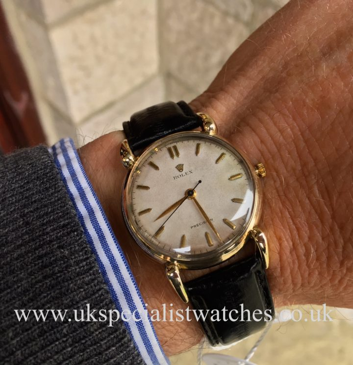 UK Specialist Watches have a vintage Rolex Precision with rare fancy lugs - 4747