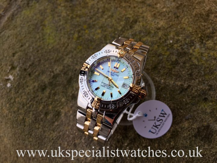 UK Specialist Watches have a ladies Breitling Strainer Mother of Pearl green dial steel and 18ct gold - B71340