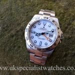UK Specialist Watches have Rolex Explorer II White Dial 42mm - New Model - 216570