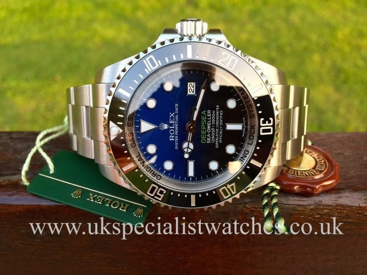 Available at UK Specialist Watches a New model Rolex Deepsea Sea-Dweller D-Blue Dial 116660 NEW UNUSED