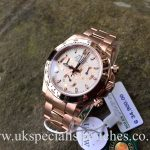 UK Specialist Watches have an 18ct Rolex Daytona in Everose Gold with an ivory white dial - 116505