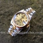 Sunning Rolex Lady-Datejust Steel & Gold Diamond Dial 69173