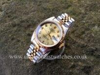 Sunning Rolex Lady-Datejust Steel & Gold Diamond Dial 69173