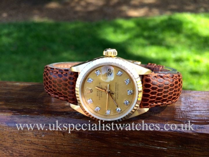 Vintage Rolex lady date-Just 18ct Gold 'Diamond Dial
