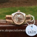 Rolex Lady-Datejust 18ct Everose Gold - Sundust Diamond Dial - 279175RBR