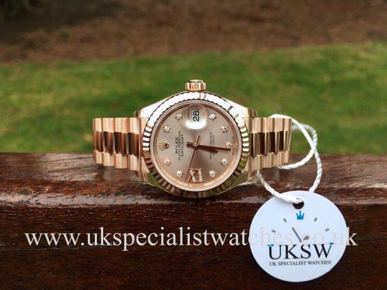 Rolex Lady-Datejust 18ct Everose Gold - Sundust Diamond Dial - 279175RBR