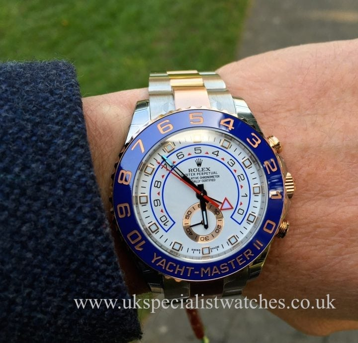 UK Specialist Watches have a unused new model Rolex Yacht-Master II in Steel & Rose Gold model ref 116681