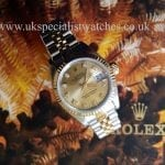 UK Specialist Watches Rolex Lady-Datejust Steel & Gold Diamond Dial 69173
