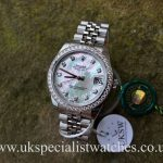 Rolex Ladies Datejust Midsize 31mm – MOP Diamond Dial – 178384