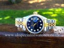 Stunning Rolex Lady-Datejust Gold & Steel -Blue'Diamond Dial' 69173