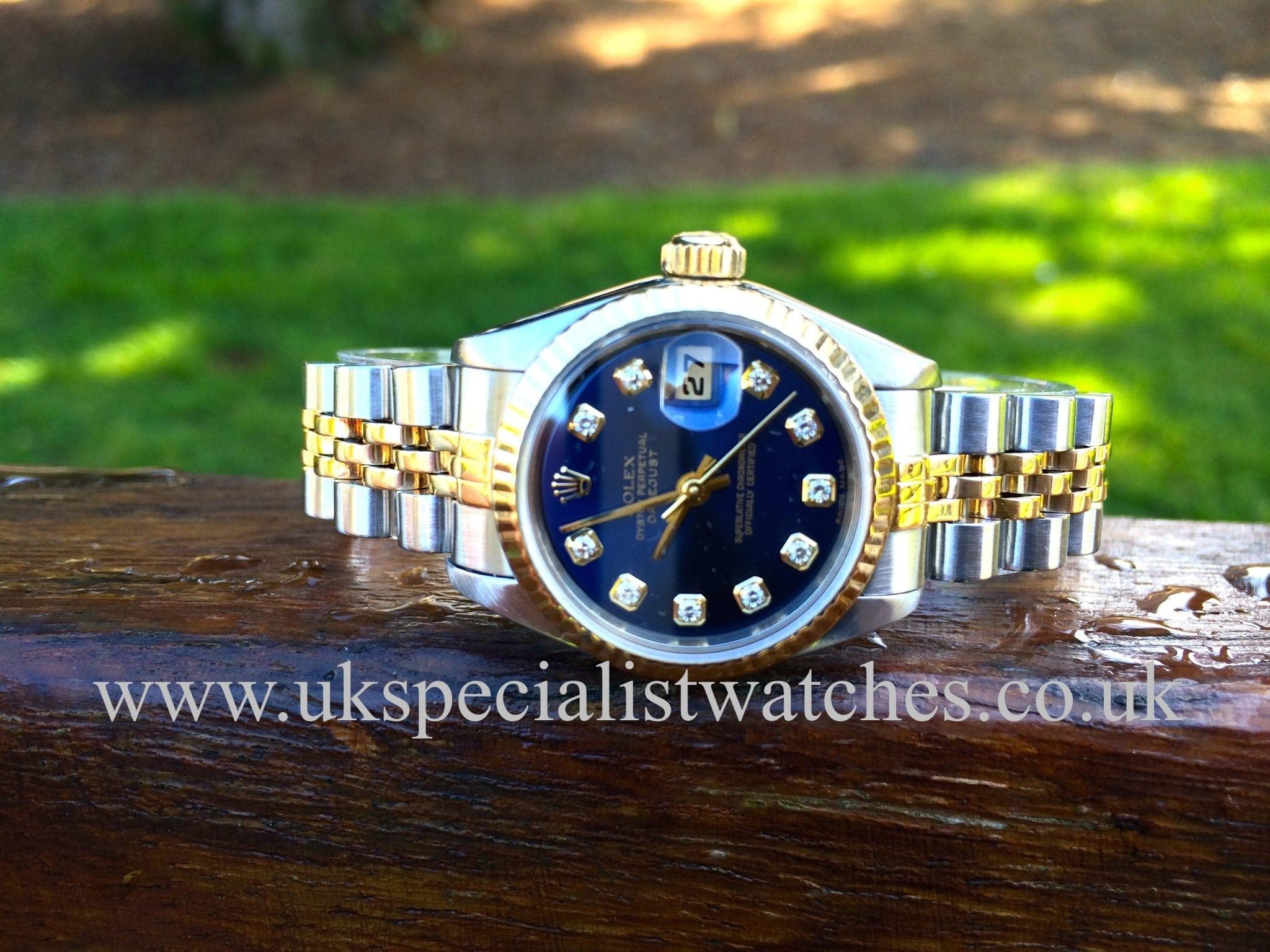 Rolex Datejust Lady's Gold & Steel - Blue Diamond Dial 69173