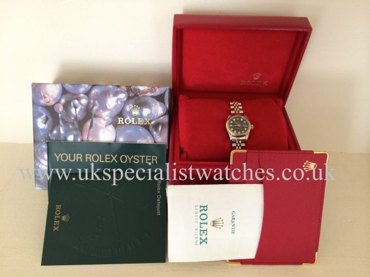 Blue dial Rolex Lady-Datejust Gold & Steel -Blue'Diamond Dial' 69173