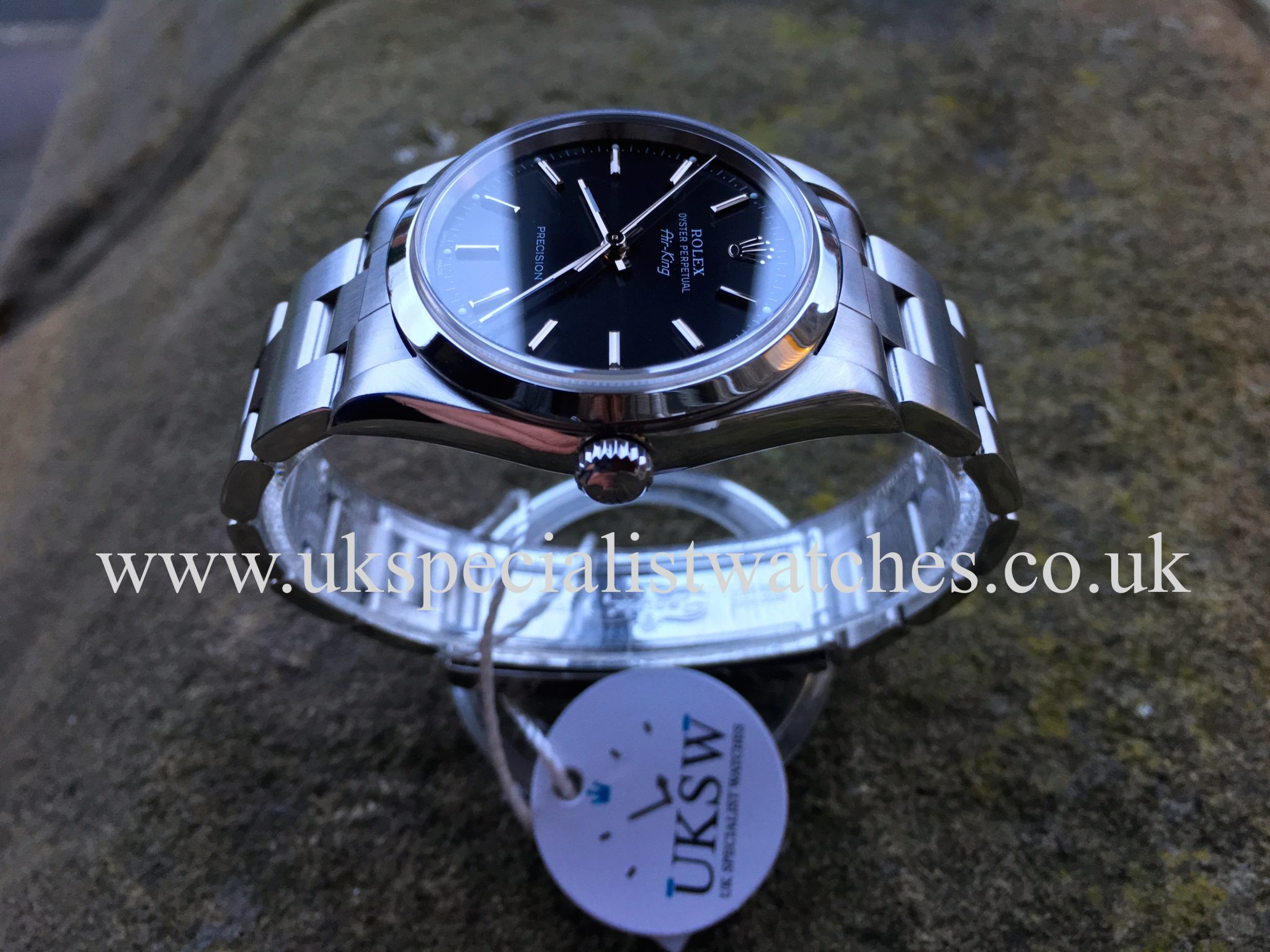 rolex air king precision 14000m stainless steel black dial rolex watches uk. Black Bedroom Furniture Sets. Home Design Ideas