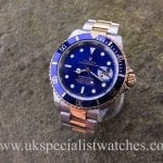 UK Specialist Watches have an iconic Rolex Submariner Date Blue Dial – Steel & Gold 16613