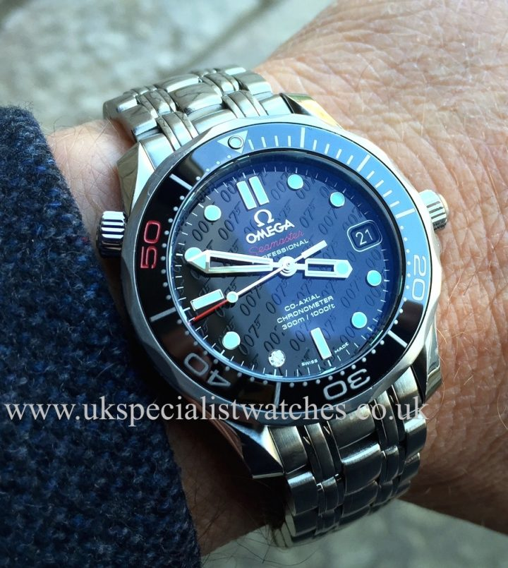limited edition Omega Seamaster James Bond OO7 - 50th anniversary with a diamond set at 7 O'clock - 21230362051001