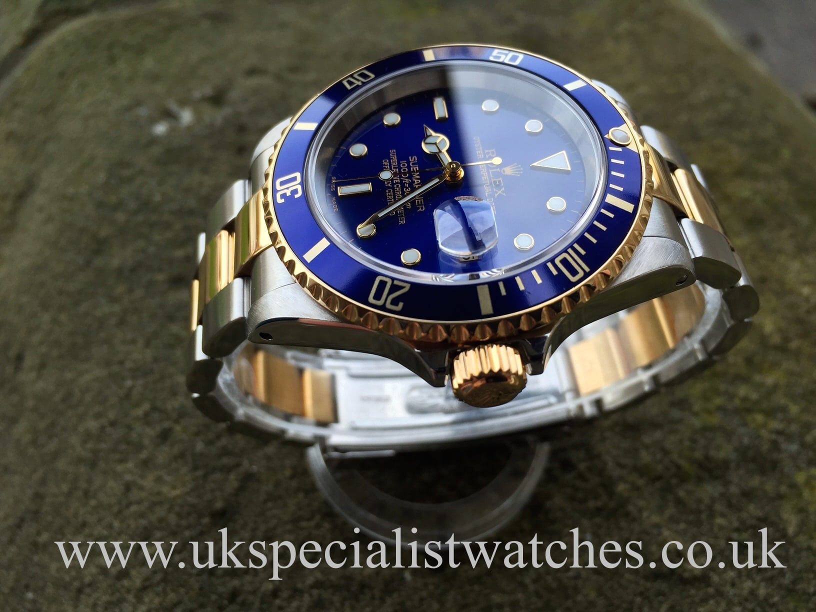 Rolex Submariner Date Blue Dial – Steel & Gold 16613 - UK ...