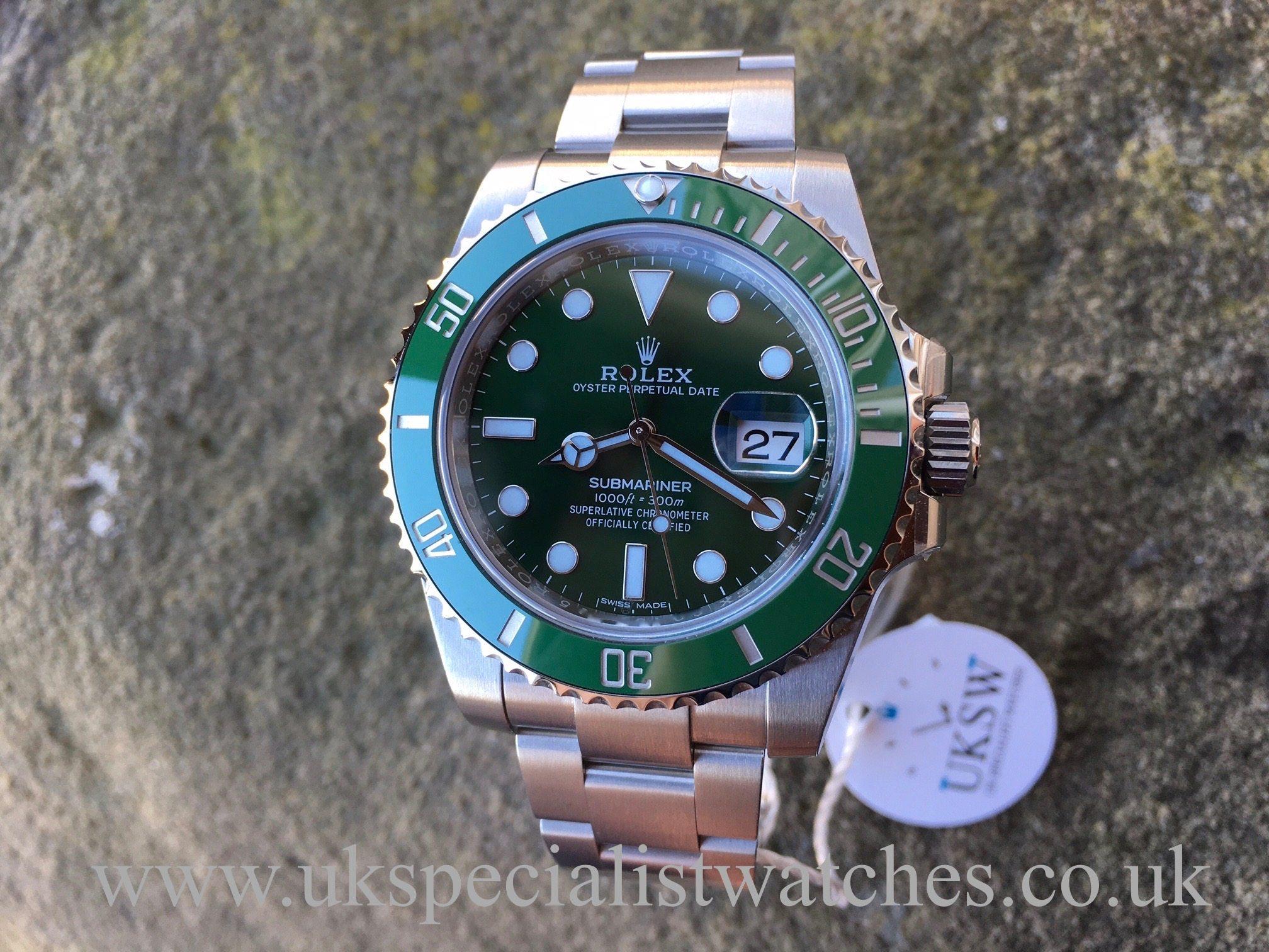 Rolex Submariner \u201cHulk\u201d 116610LV \u2013 UNWORN \u2013 UNUSED