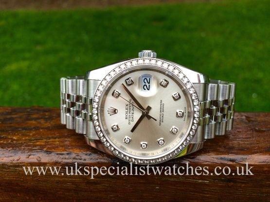 "Rolex Datejust 36mm Diamond Bezel - ""Diamond Dial"" 116244"