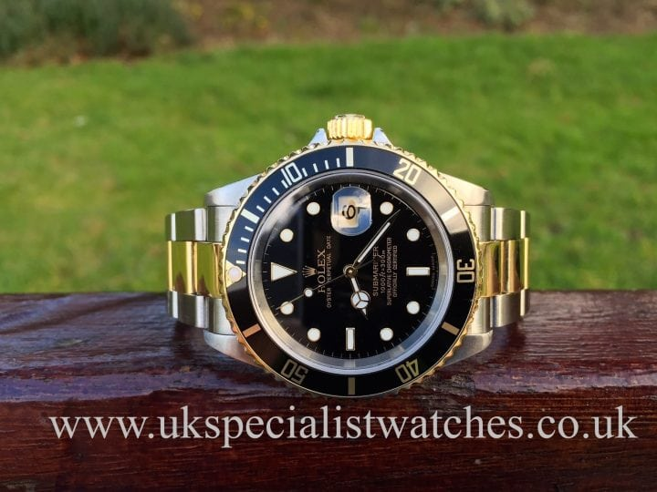 UK Specialist Watches have a 2006 Rolex Submariner 16613 with a black dial.