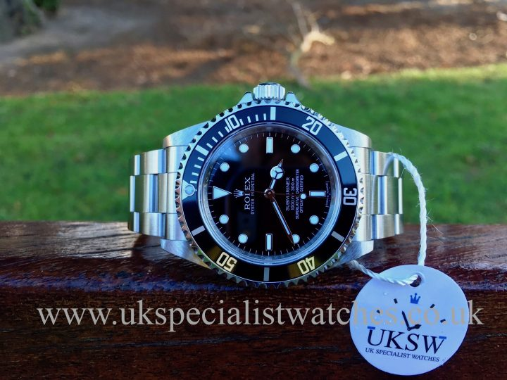 UK Specialist Watches have a rare Rolex Submariner non-date 14060M with a random serial.