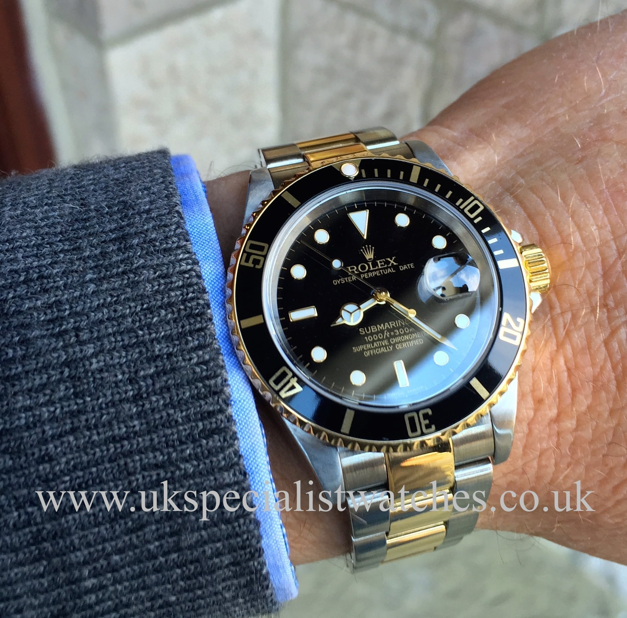 Rolex Submariner Date - Steel & Gold 16613 – Black Dial ...