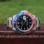 UK Specialist Watches have a highly desireable Rolex GMT Master II Pepsi Bezel 16710