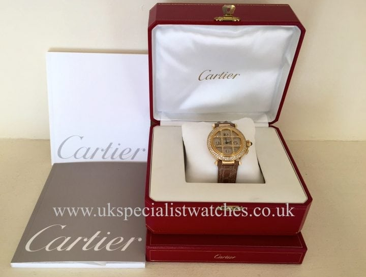 UK Specialist Watches have a stunning Cartier Pasha Grille 18ct Yellow Gold Diamond set grill and bezel 38 mm