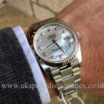 UK Specialist Watches have a Rolex Datejust-Mother Of Pearl Diamond Dial – 116234 – UNUSED