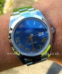 Rolex Datejust 2 gents new model Steel 41mm 'Blue Dial' 116300