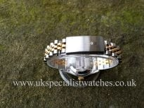 In stock at UK Specialist Watches Rolex Lady Datejust Steel & Gold - Mother of Pearl Diamond Dial 69173