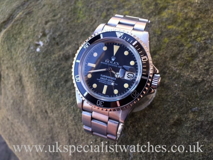UK Specialist Watches have a Rolex 1680 Submariner with the Swiss T 25 toothpaste dial.