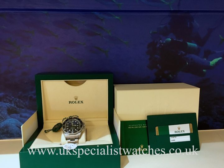 UK Specialist Watches have a Rolex Deepsea D-Blue - James Cameron Edition, new unused 2016.