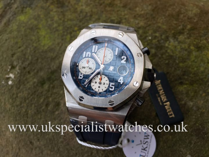 UK Specialist Watches have a brand new Audemars Piguet Royal Oak Offshore Navy - 26470ST.OO.A027CA.01 - NEW
