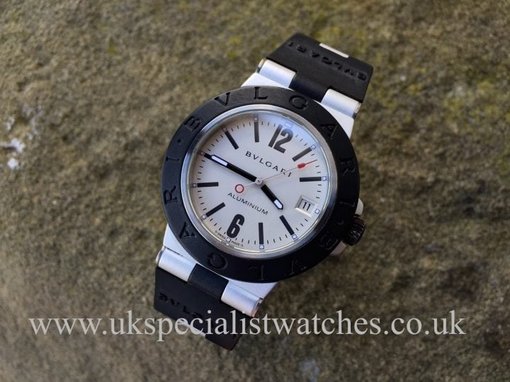 In stock at UK Specialist Watches- Bvlgari 38mm Aluminium Automatic -AL38TA