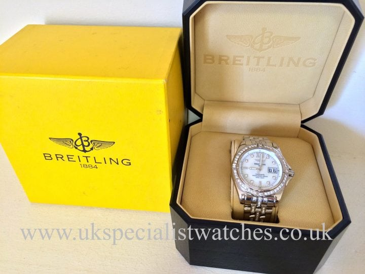 "Breitling Windrider Cockpit -White Gold-LTD edition""Factory Diamond Set"" J49350"