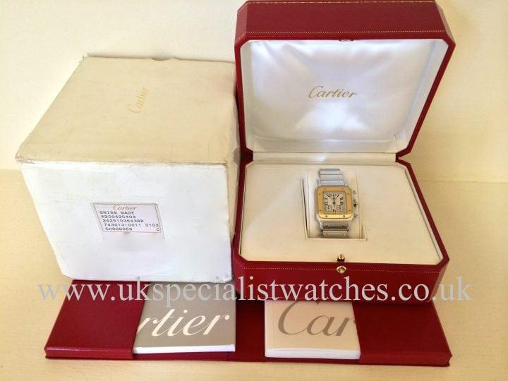Cartier Santos Galbee chrono steel & Gold UNUSED