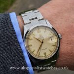 UK Specialist Watches have a lovely vintage 1954 Rolex Oyster Date Precision 6294 with original box and papers