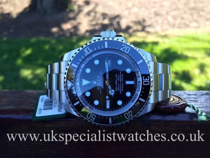 In stock at UK Specialist Watches the awesome Rolex Deep Sea Dweller