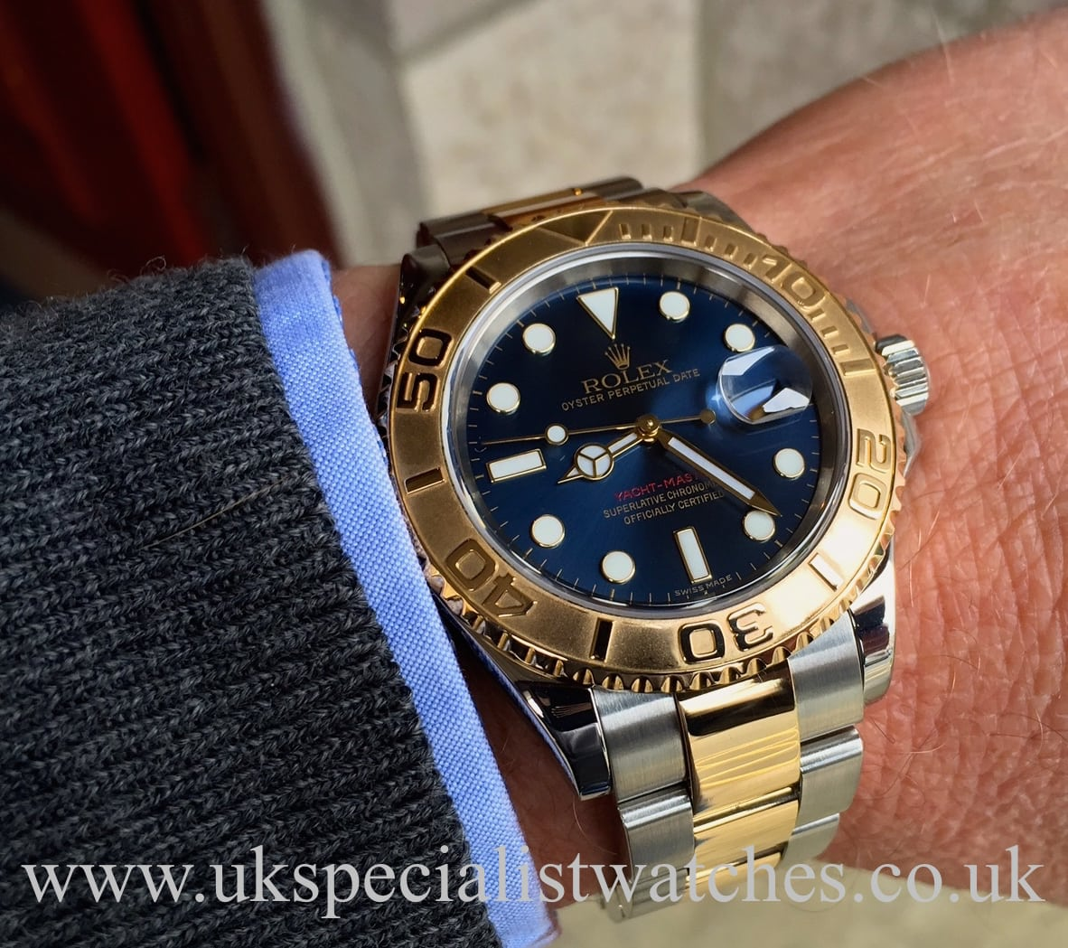 Rolex Yacht-Master Gold & Steel Blue Dial - 16623 - UK ...