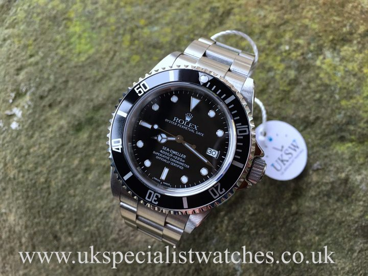 UK Specialist Watches have a rare Rolex Sea-Dweller 16600 just serviced at Rolex - Full Set.