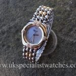 UK Specialist Watches have a beautiful Ladies Chopard Steel & gold Mother of pearl dial and diamond set bezel