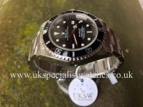UK Specialist Watches have a rare Rolex Sea-dweller 16600 with an original Swiss t25 dial.