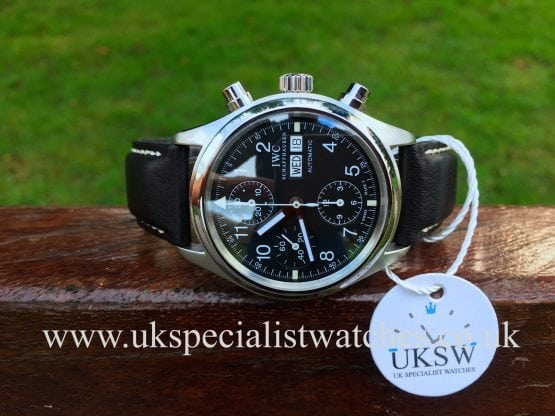 UK Specialist Watches have a IWC Pilots Chronograph in stainless steel - IW3706