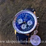 UK Specialist Watches have a Breitling Navitimer with a blue Arabic Dial- A23322