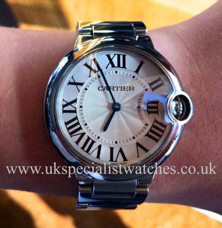 For sale at UK specialist watches Cartier Ballon Bleu 36mm Stainless Steel W69011Z4